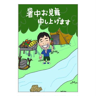 メッセージカード/季節の便り/16-0766(似顔絵ver)/1セット(30枚)