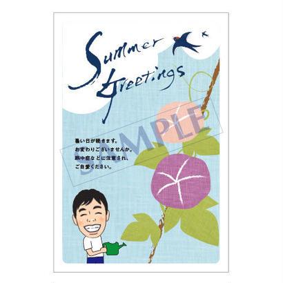 メッセージカード/季節の便り/17-0798(似顔絵ver)/1セット