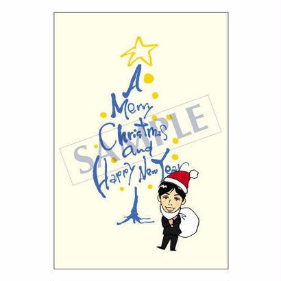メッセージカード クリスマス 07-0241(似顔絵ver) 1セット(30枚)