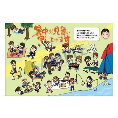 メッセージカード/季節の便り/17-0790(似顔絵ver)/1セット(30枚)