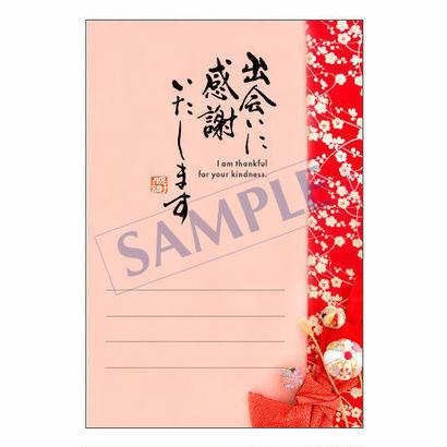メッセージカード  出会い・感謝・お祝い・ご挨拶  14-0637  1セット(10枚)