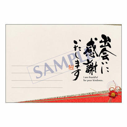 メッセージカード  出会い・感謝・お祝い・ご挨拶  14-0636  1セット(10枚)