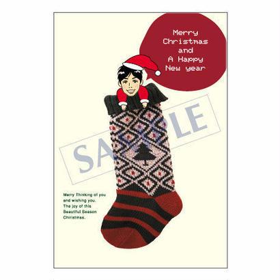 メッセージカード クリスマス 08-0365(似顔絵ver) 1セット(30枚)