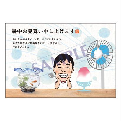 メッセージカード  季節の便り  18-0827(似顔絵ver)/1セット