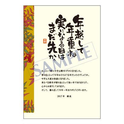 メッセージカード/年末便り/17-0806/1セット(10枚)