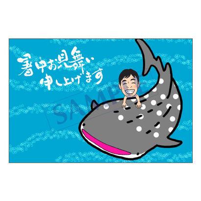メッセージカード/季節の便り/16-0761(似顔絵ver)/1セット(30枚)
