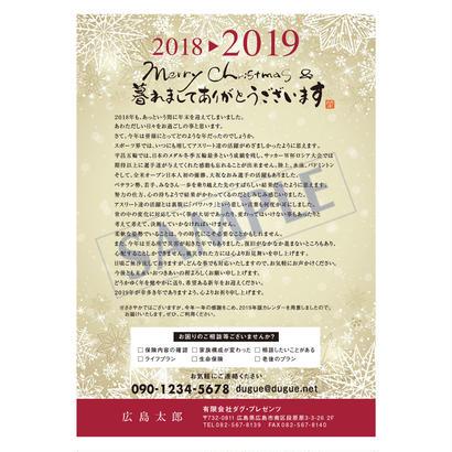 Thanks Letter (年末のご挨拶状)1セット(100枚)