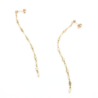 Bar chain long pierced