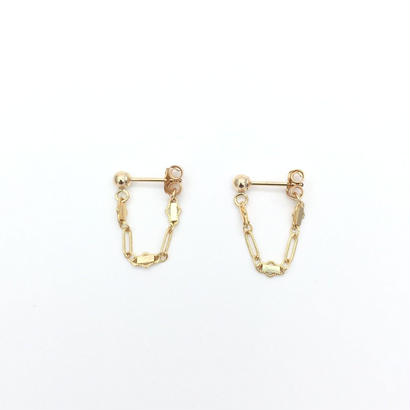 Bar chain drop pierced