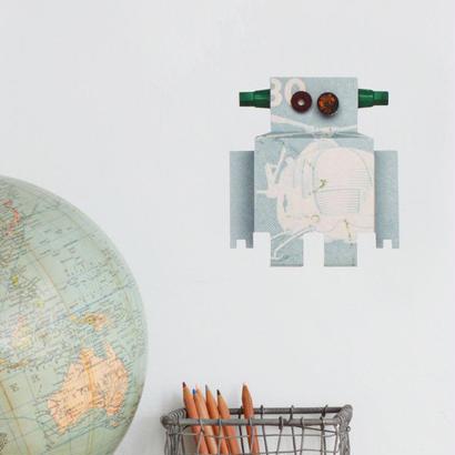 Robot ヘリコプター ウォールスティッカー - Studio Ditte