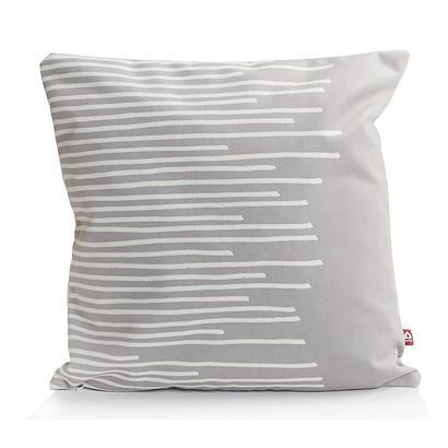 クッションカバー STRIPES - ホワイトとグレー - Popsicle