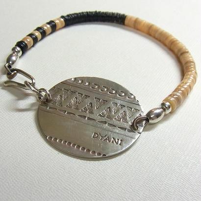 Stamped persian SV Big Plate Bracelet