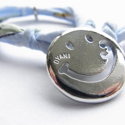 Smiley with wavy mouth Bracelet / Sky Blue Aloha