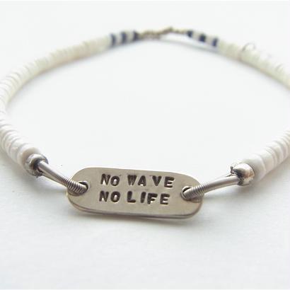 NO WAVE NO LIFE シェルブレスレット