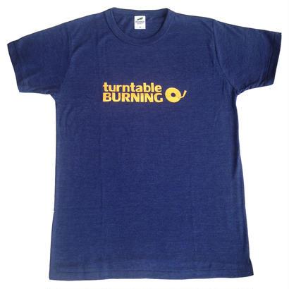 turntableBURNING Tシャツ - ネイビー