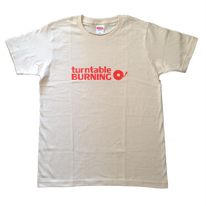 new!!! turntableBURNING Tシャツ - ベージュ