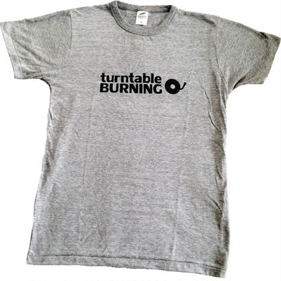 turntableBURNING Tシャツ - グレー