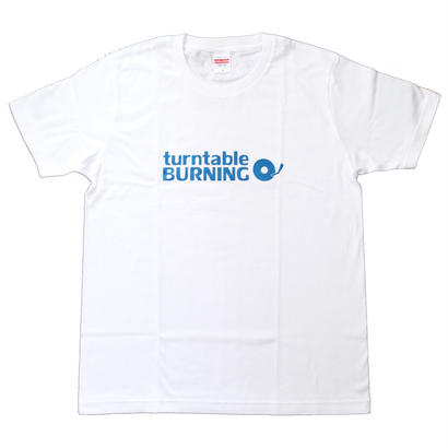 new!!! turntableBURNING Tシャツ - ホワイトBL