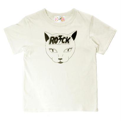 【Liv:ra】猫☆ROCK エコ顔料 オーガニックコットン100% Tシャツ
