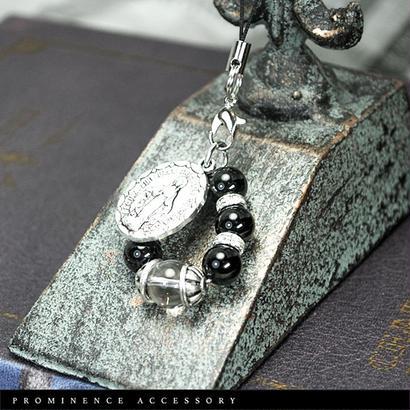 【天然石|オニキス・天然水晶・マリアストラップ】守護・事故除け・魔除け