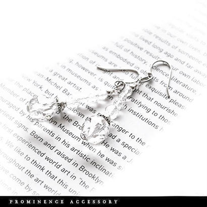 【天然石 | スターカット水晶ピアス】守護・幸運・癒し