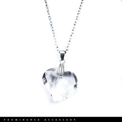 【天然石 | ハートカット・天然水晶・シンプルペンダント】守護・心身浄化・幸運・パワーストーン