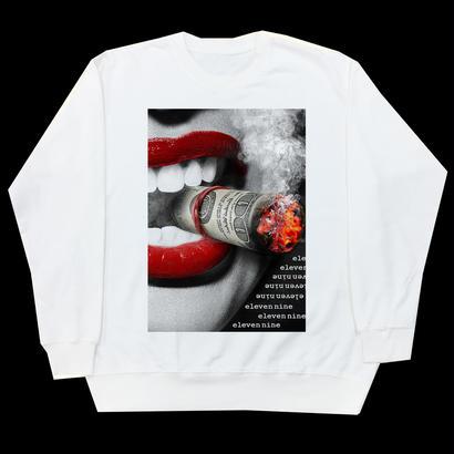 Eleven Nine / トレーナー/ Lip/smoke/ホワイト