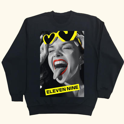 Eleven Nine / トレーナー/Yellow heart/ブラック