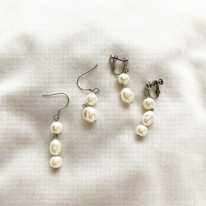 Pearl asymmetry pierce/earring