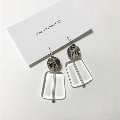 Clear pierce/earring