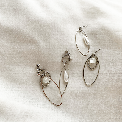 Asymmetry pierce/earring