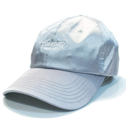 THRASHER SATIN CURVE CAP SILVER