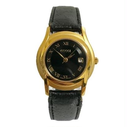 GUCCI black leather Watch