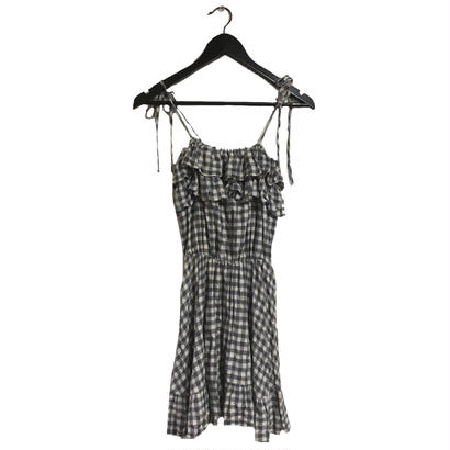 gingham check  design one-piece