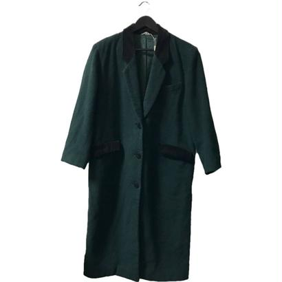 【スペシャルプライス】wool velours long coat moss green