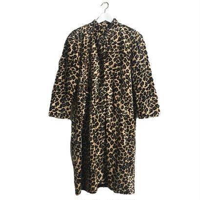 leopard fur long coat