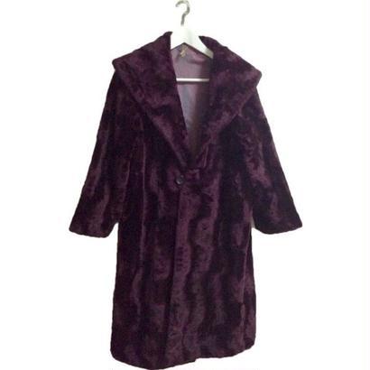 【スペシャルプライス】design purple long fur coat