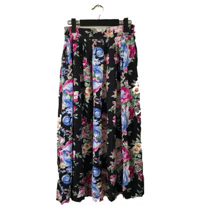 flower design long skirt