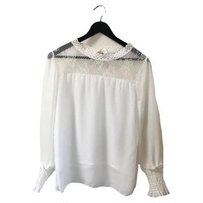 lace design chiffon blouse