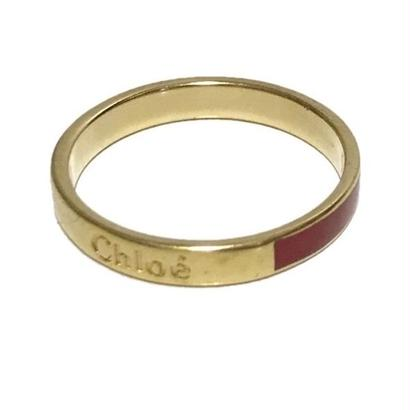 Chloé logo ring RED