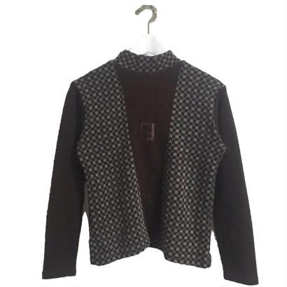 FENDI check highneck knit