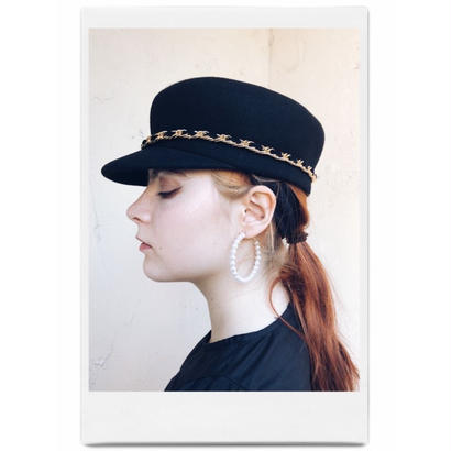 2way chain wool cap