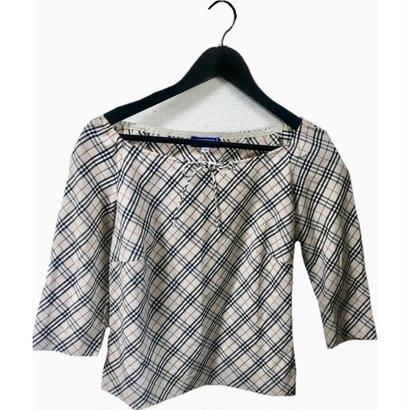 Burberry check ribbon blouse