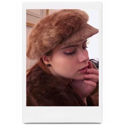 mohair fur casquette