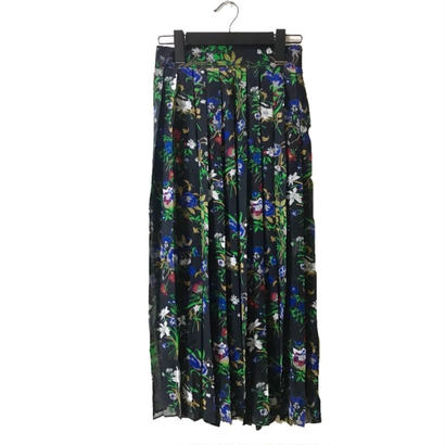 flower design chiffon pleats skirt