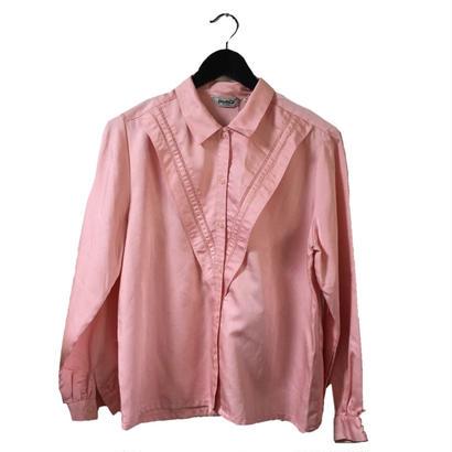 lace design blouse pink