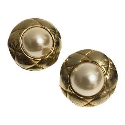pearl quilting earrings