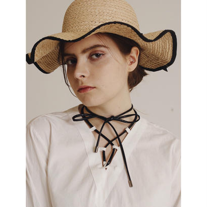 lace up design blouse