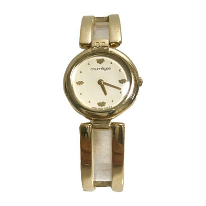 courrèges gold bangle Watch