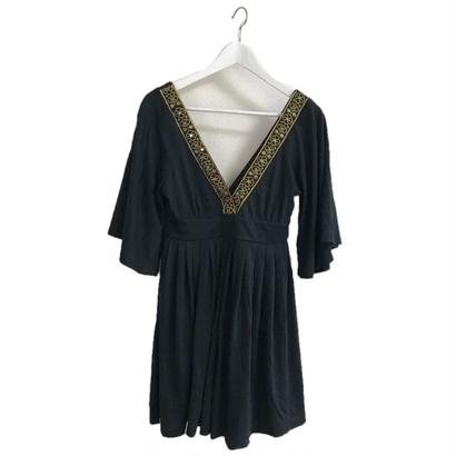 embroidery Vneck rompers